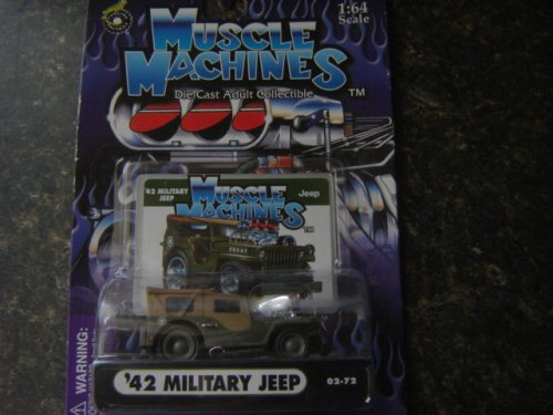 42 Military Jeep,muscle Machines 1/64 Scale