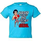Camiseta niño Rocky Balboa nacido para - Celeste, 3-4 años