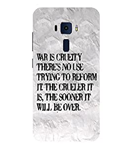 Evaluze life quote Printed Back Cover for ASUS ZENFONE 3