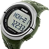 Sport Watch, Oittm Heart Rate Monitor Watch, Mulit-Funtion Fitness Activity Tracker & Running Exercise Timers with Rubber Gel Strap Digital Wrist Watch