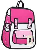 (エフバイフォー) F×4 メンズ レディース アニメ イラスト のような おもしろ リュック サック 大容量 カジュアル コスプレ 2D バッグ FBB001 ピンク