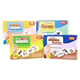 Krazy Flash Cards - 4 Combo Range (Domestic Animals, Wild Animals, Sea Creatures, Animals & Babies)