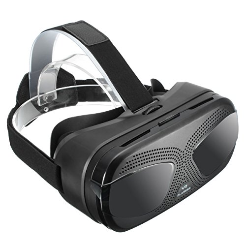 3D Headset, ELEGIANT Smart VR Box Full HD Virtual Reality Helmet 3D Glasses for 3.5 - 6.0 Inch Molibe Phone (Android and IOS)
