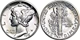 1916 - 1945 90% Silver Mercury Dimes BU (Mixed Dates and Mint Marks) .10c BU