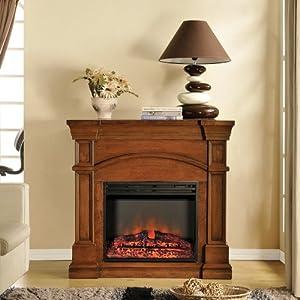 Muskoka Oberon 40 in. Electric Fireplace Mantel in Burnished Walnut
