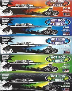 Hot Rod Cigarette Tube Lot 200ct New Unopened Box 5 Boxes 1000 Tubes Total (GREEN MENTHOL FLAVOR, 100MM)
