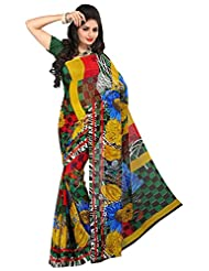 Bano Tradelink Women's Georgette Saree (Btl_Tr-D, Multicolour )