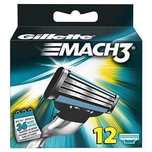 Gillette MACH3 Cuchillas, 12 unidades