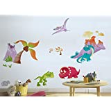 Rawpockets Decal ' Jungle Dinosaurs Family Cartoon ' Multi-Color Extra Large Size Wall Sticker(Material- PVC Vinyl...