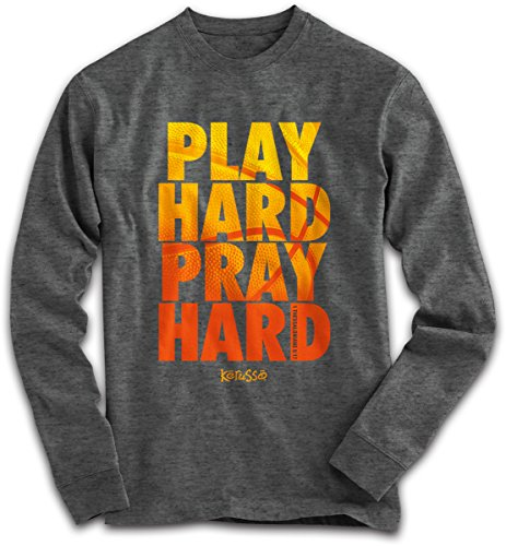 Adult Long Sleeve T - Play Hard Pray Hard (X-Large) (Basketball Clothing compare prices)