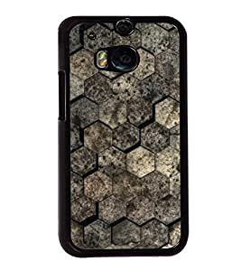 Brown Pattern 2D Hard Polycarbonate Designer Back Case Cover for HTC One M8 :: HTC M8 :: HTC One M8 Eye :: HTC One M8 Dual Sim :: HTC One M8s