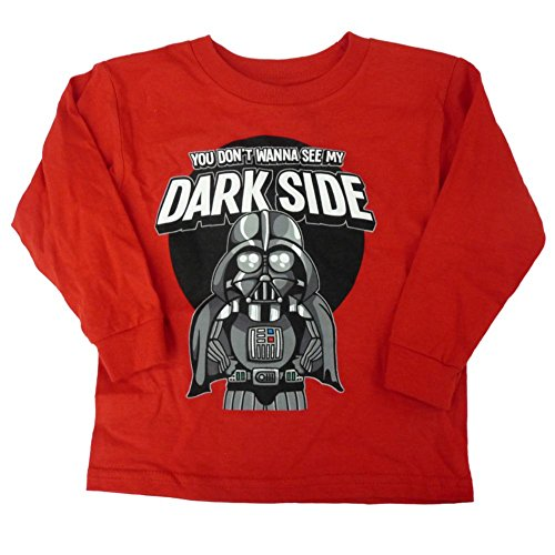 Star Wars Darth Vader Dark Side Toddler Boys Red Long Sleeve T-Shirt