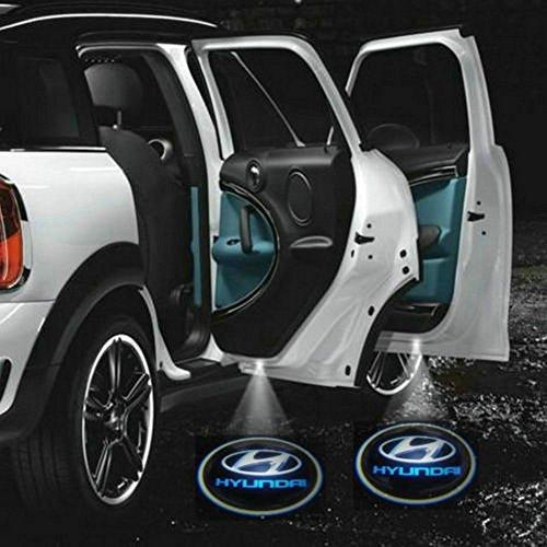 Sunroadtek@ 2 X Car Door Shadow Laser Projector Logo Led Light For Hyundai All Series Coupe Tucson Accent Elantra Terracan Veracruz Sonata Santa Fe I10 I20 I30 I30Cw I40 I800 Ix35 Getz