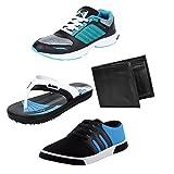 #2: Bersache Men Combo Pack of 4 Sports Shoe With Casual Shoe, Slipper & Wallet