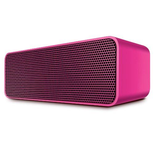 Urban Beatz Rockbox Portable Wireless Stereo Bluetooth Speaker With Built In Microphone / Speakerphone & 7 Hour Rechargeable Battery (Neon Pink)