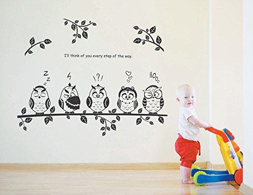 Compra ufengke b ho del dibujo animado rama de un rbol for Pegatinas pared habitacion ninos