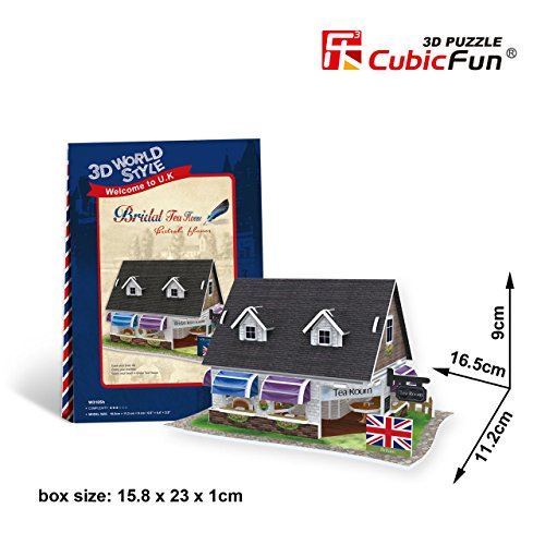 Cubicfun Cubic Fun 3d Puzzle Model 45pcs British Flavor Bridal Tea House