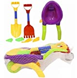 CHILDRENS TOY GARDEN BEACH WHEELBARROW SAND PIT TOO