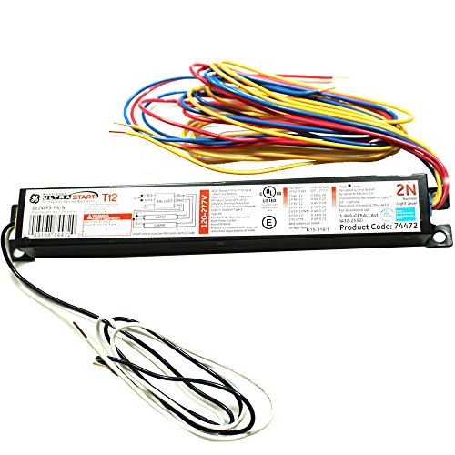 GE Lighting 74472 GE240RS-MV-N 120/277-Volt Multi-Volt ProLine Electronic Fluorescent T12 Programmed Rapid Start Ballast 2 or 1 F40 or F34T12 Lamps (Ge Profile Performance compare prices)