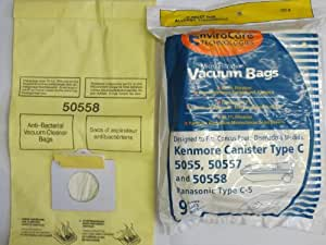 Generic Kenmore Canister Microfiltration Vacuum Cleaner Bags. Fits Styles 50558, 5055, 50557. 9 Bags