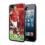 アーセナル フットボールクラブ Arsenal FC オフィシャル 3Dメスト・エジル選手デザイン iphoneハードケース スマートフォンカバー (iphone5/5S対応) (iPhone 5/5S) (ブラック)