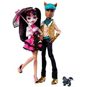 Monster High Draculaura And Clawd Wolf Doll