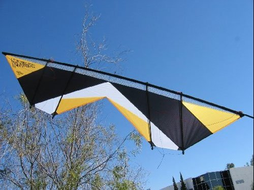 Revolution Shockwave Gold Black White Quad Line Stunt Kite Made in the USA