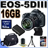 Canon EOS 5D Mark III 22.3 MP Full Frame CMOS Digital SLR Camera with EF 24-105mm f/4 L IS USM Lens With 16GB Cf Card Accessory Kit !