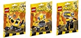 LEGO, Mixels Series 6 Bundle Set of Weldos, Kramm (41545), Forx (41546), and Wuzzo (41547)