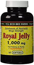 Y.S. Eco Bee Farms, Royal Jelly, Mega Strength, 1000 mg, 60 Softgels