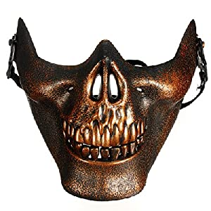 Buy Skull Skeleton Airsoft Paintball Half Face Protect Mask by LedChoice