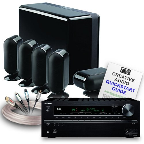 Creative Audio CA-HC36-BB Home Cinema System (Onkyo TX-NR616 Black + Q Acoustics 7000 Cinema Gloss Black + Free £150 QED cable bundle + Free 11 page Creative Audio Quickstart Guide). 2 Year Guarantee + Free next working day delivery (most mainland UK addresses)!