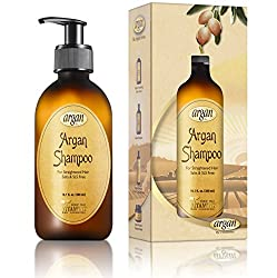 After Straightening Smoothing Clarifying Shampoo - Natural Moroccan Argan Shampoo Treatment 10.1 oz for Straightened Hair - Revives Chemical Treated Straightened Hair