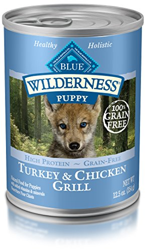 Blue Buffalo Wilderness Puppy Turkey & Chicken - Grain Free  12.5 oz, Pack of 12 (Blue Buffalo Canned Puppy Food compare prices)