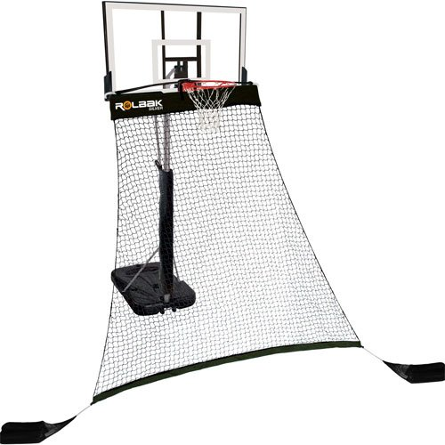 Rolbak Silver Basketball Protective/Rebounding Net System