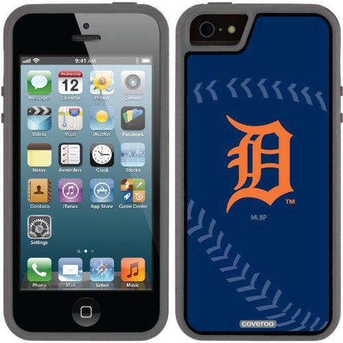 Great Price Detroit Tigers - stitch design on a Black iPhone 5s / 5 Guardian / Ruggedized Case by Coveroo