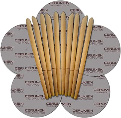 Organic Natural Cerumen Therapeutics Beeswax Ear Candles 5 Pairs With Protective Discs from Cerumen Therapeutics