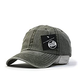 Plain Washed Cotton Twill Baseball Cap with Adjustable Velcro (Various Colors) (Dark Olive)