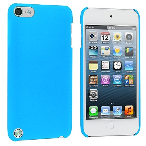 Cell Accessories For Less (Tm) Baby Blue Hard Rubberized Back Cover Case For Apple Ipod Touch 5Th Generation // Free Shipping By Thetargetbuys front-904803