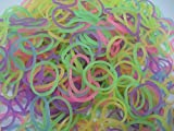 600 �lastiques FLUORESCENTS et s-attaches multicolores en latex Twistz Bandz
