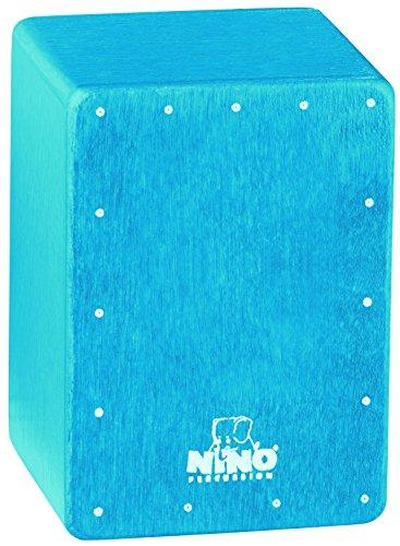 Nino Percussion NINO955B Mini Cajon Shaker, Blue