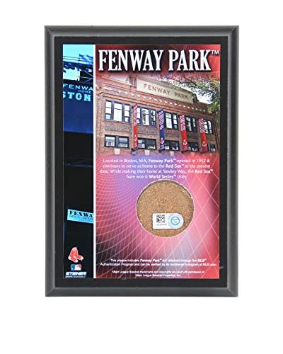 Steiner Sports Memorabilia Fenway Park Dirt Plaque, 6 x 4