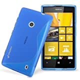 Fosmon DURA S Series Flexible SLIM-Fit TPU Case for Nokia Lumia 520 (Blue)