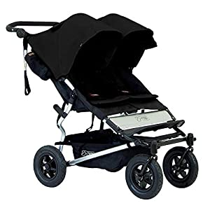 Mountain Buggy Duet v2.5 Twin Double Baby Pushchair (Black) by Mountain Buggy