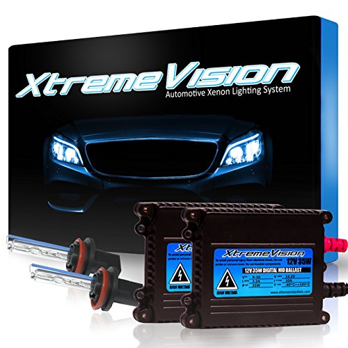 XtremeVision 35W HID Xenon Conversion Kit with Premium Slim Ballast - H11 30000K - Deep Blue - 2 Year Warranty (Ford Fusion Blue Headlights compare prices)