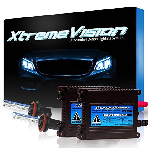 XtremeVision® 35W HID Xenon Conversion Kit with Premium Slim Ballast - H11 5000K - Bright White - 2 Year Warranty (Camaro Hid Conversion Kit compare prices)