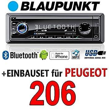 Peugeot 206 brisbane bLAUPUNKT - 230/mP3/uSB avec kit de montage autoradio avec bluetooth