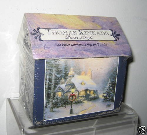 Thomas Kinkade Stonehearth Hutch 100pc Miniature Jigsaw Puzzle