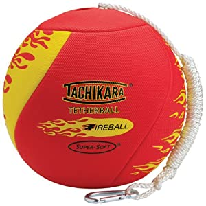 Tachikara FireBall Super-Soft TetherBall with Diamond Textured Cover
