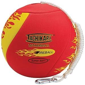 Tachikara FireBall Super-Soft TetherBall with Diamond Textured Cover